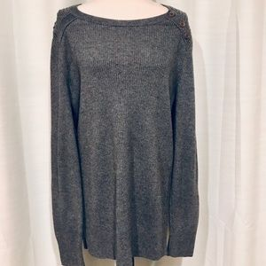 Banana Republic gray crew neck sweater size XL